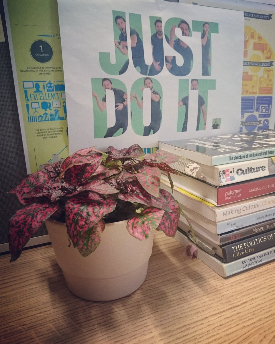 When you&#39;re relying on Shia &amp; new desk plant for #writing support #thesislife #itsalmostover<br>http://pic.twitter.com/oOuK7ZkFVb