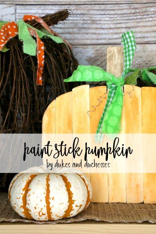 Turn paint sticks into a #repurposed paint stick pumpkin for fun fall decor!  https:// buff.ly/2jCiPfU  &nbsp;  <br>http://pic.twitter.com/m6ojCd3Ddb