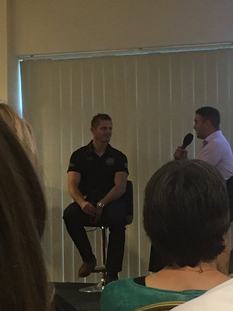 Learning about @steeno10 and his #rugby career with @ExeterChiefs @SandyParkExeter this evening.  #sport #devon #getstuckin<br>http://pic.twitter.com/IXbOLeNqKh