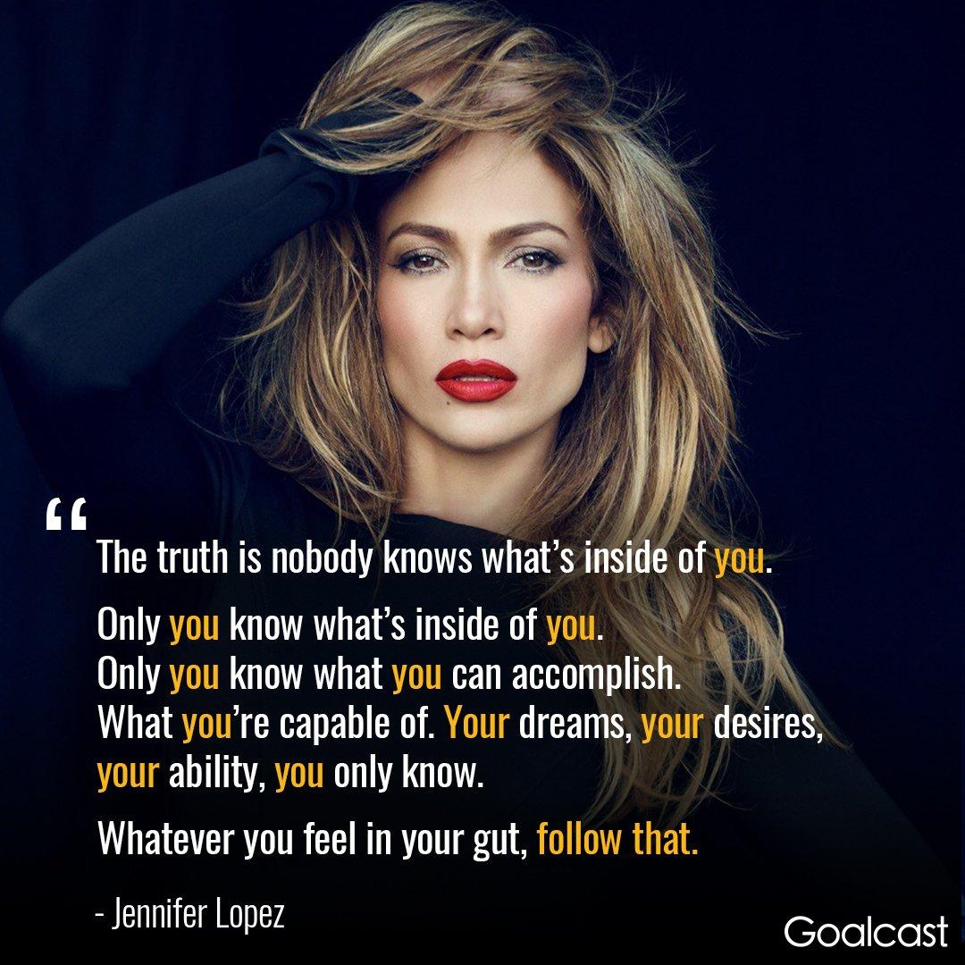 &quot;Whatever you feel in your gut, follow that.&quot; - Jennifer Lopez #motivation #inspiration #selfimprovement <br>http://pic.twitter.com/HirDW8x8GK