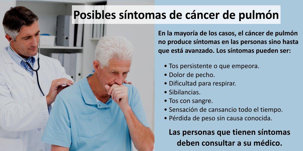 Sintomas cancer de pulmon perdida de pesos