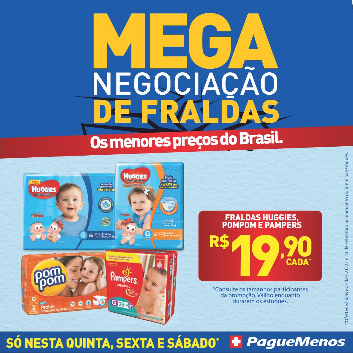 #NaPagueMenosTem MegaOferta IMPERDÍVEL!😱😍 Diversas fraldas a partir de R$ 19,90 cada, até 23/09. 👉https://t.co/zSNHe7pVPg https://t.co/pjrf8laRPX