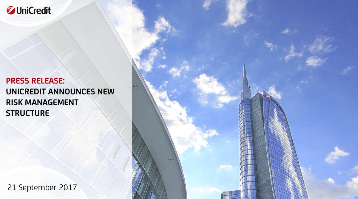 #PressRelease: #UniCredit announces new Risk Management structure   LINK  https:// goo.gl/idpxZb  &nbsp;  <br>http://pic.twitter.com/iJCGapdX7l