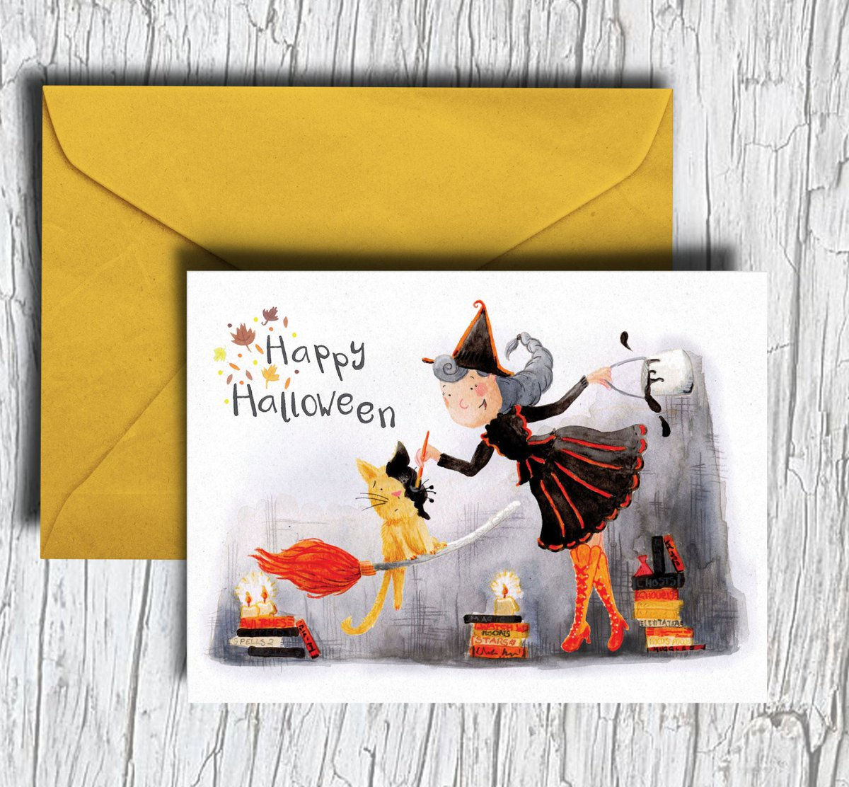 Get prepped and ready for #Halloween with this little #card! Shop:  http:// ow.ly/c1fd30fe9GP  &nbsp;   #justacard #witch #greetingcard #happyhalloween<br>http://pic.twitter.com/xIPDQCmgZ8