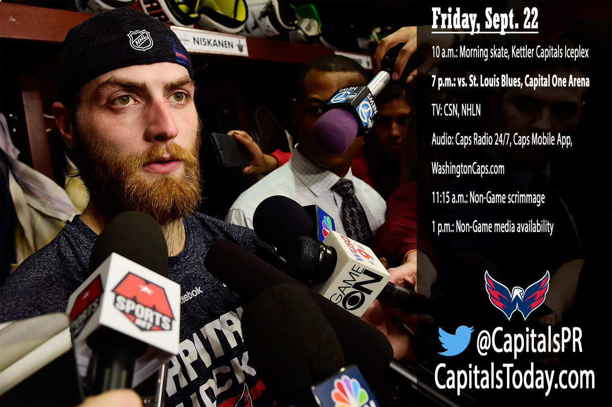"capitalspr on twitter: ""#caps practice schedule for friday"