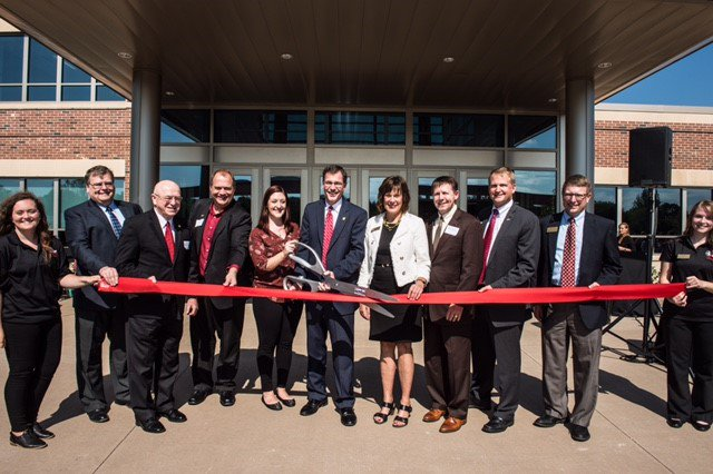 Congratulations to @UWRiverFalls on the grand opening of the Falcon Center for Health, Education and Wellness. #HigherEd #UWRF<br>http://pic.twitter.com/Mkhwvb2ApZ