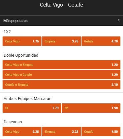 888sport_es:  21:00 | #LaLiga    #Celta   Empate   #Getafe  Apuesta ahora <br>http://pic.twitter.com/Sc39myrOVE