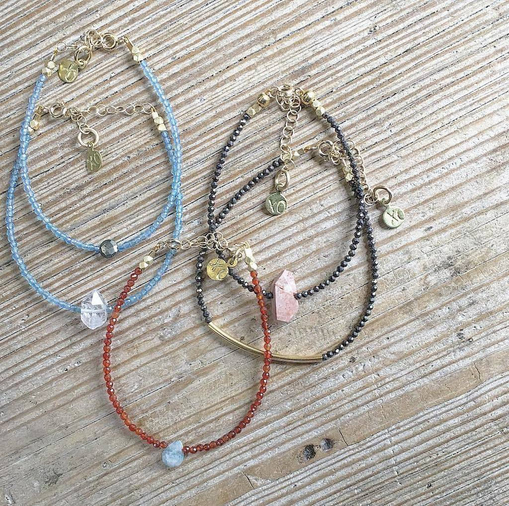 Delicate Gem bracelets. They are perfect alone or together. Stop by today and see out new collection #bracelets #danapoint #lagunabeach #th… <br>http://pic.twitter.com/t9YEN6cEB9