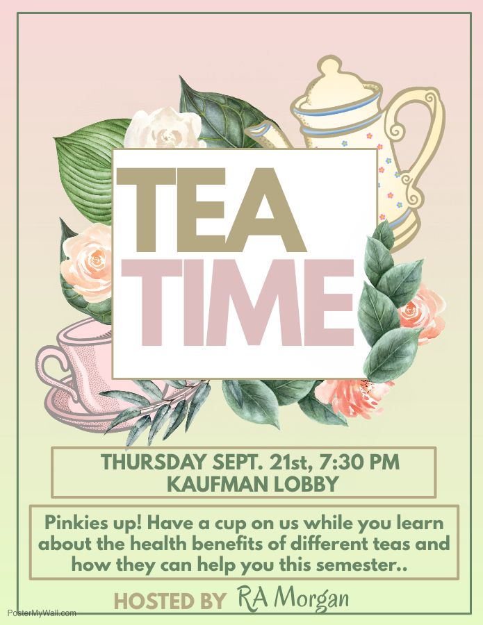 We&#39;re keeping it classy at Kaufman.  Join us for a proper cup of tea tonight in the Lobby at 7:30pm! #PinkiesUp <br>http://pic.twitter.com/YnFGjBFiHR