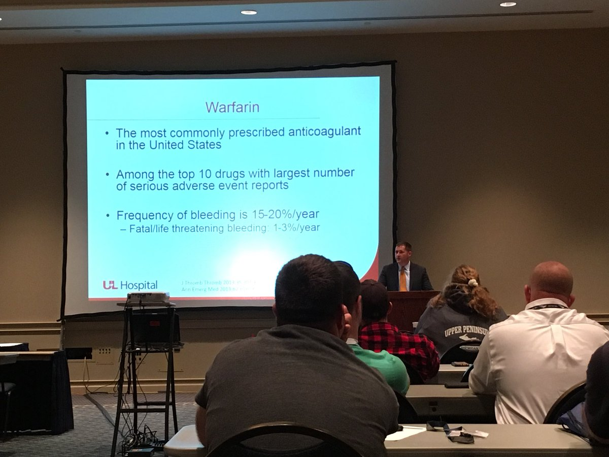 Our trauma fellow giving EMS lecture at KY EMS conference in Lexington on anticoagulants and trauma.  #outreach #UofLTrauma<br>http://pic.twitter.com/eJxs0giCgP