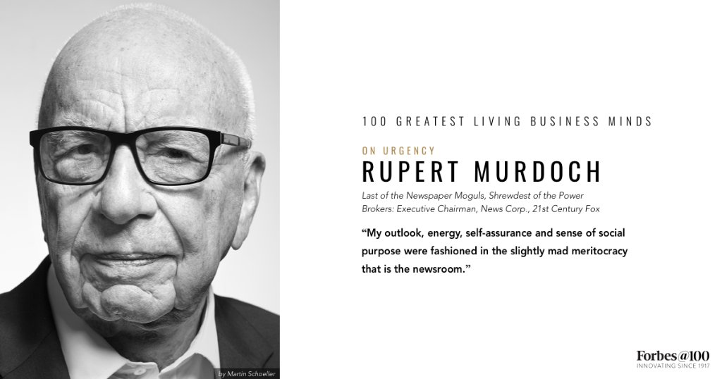 .@rupertmurdoch, one of the Greatest Living Business Minds, on urgency: https://t.co/cMQ4AjI8VD