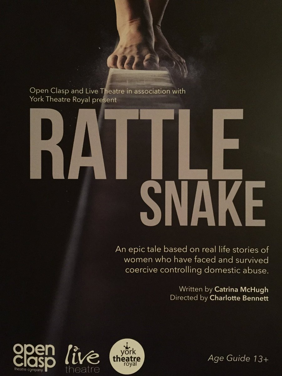 Tremendous evening at @LiveTheatre to see @OpenClasp production of #RattleSnake It&#39;s on until Sat 30, see it if you can <br>http://pic.twitter.com/ISoX3TMPGc