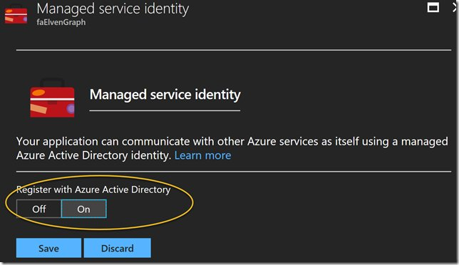 Using #Azure AD Managed Service Identity to Access #MicrosoftGraph with Azure Functions and PowerShell  http:// pzl.no/2wK0Rt8  &nbsp;   @skillriver<br>http://pic.twitter.com/vbitjqYyX0