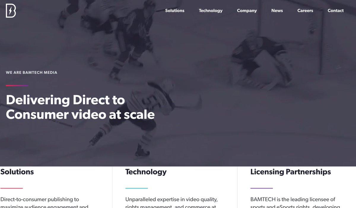 BAMTECH Media launches their new website:   Disney deal still working through closing.
