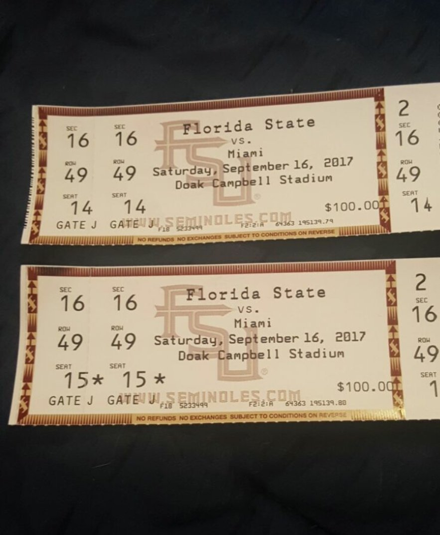Still got them for sale let me know! #ForSale #FSUvsMiami #Tickets<br>http://pic.twitter.com/XhgK8ZYbXu