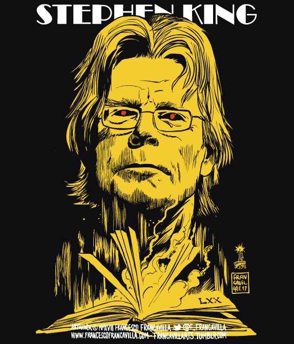 THE KING IN YELLOW  Happy 70th Birthday to Horror Maestro @StephenKing!