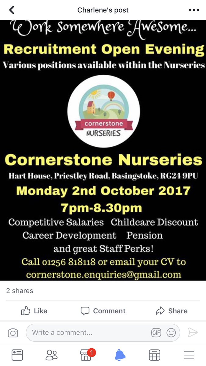 Cornerstone Nursery On Twitter Recruitment Open Evening Basingstoke Childcare Earlyyears Jobs Hampshire Nurseries Children Jointheteam