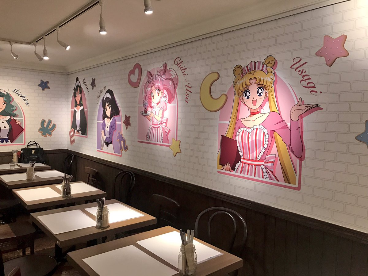 Some pics inside the Omotesando Box #SailorMooncafe2017. Super cute artwork everywhere https://t.co/pHXMe6tQZo