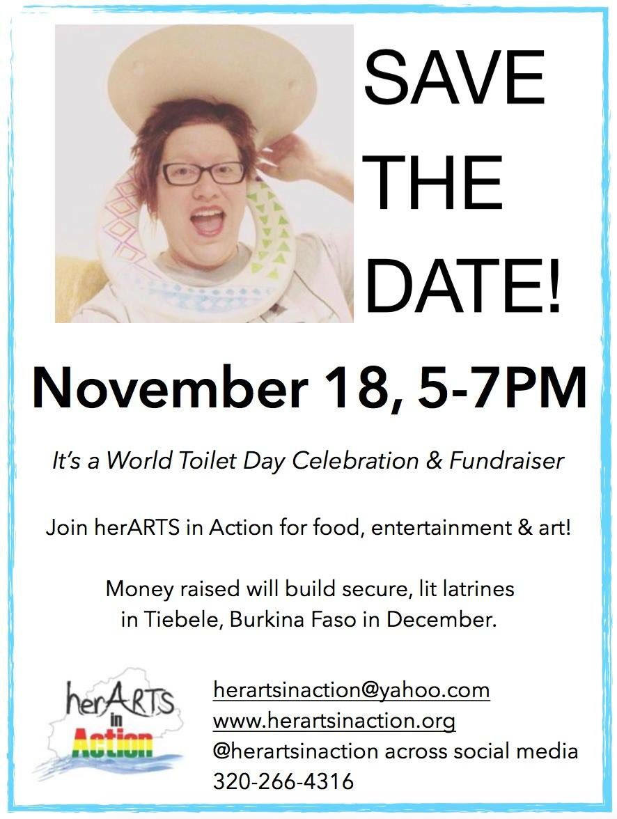 #worldtoiletday is 11/19. Celebrate with #fundraiser food, entertainment #art Location &amp; price coming soon. #sanitation #fundraising #toilet <br>http://pic.twitter.com/i5KydeQ1YU