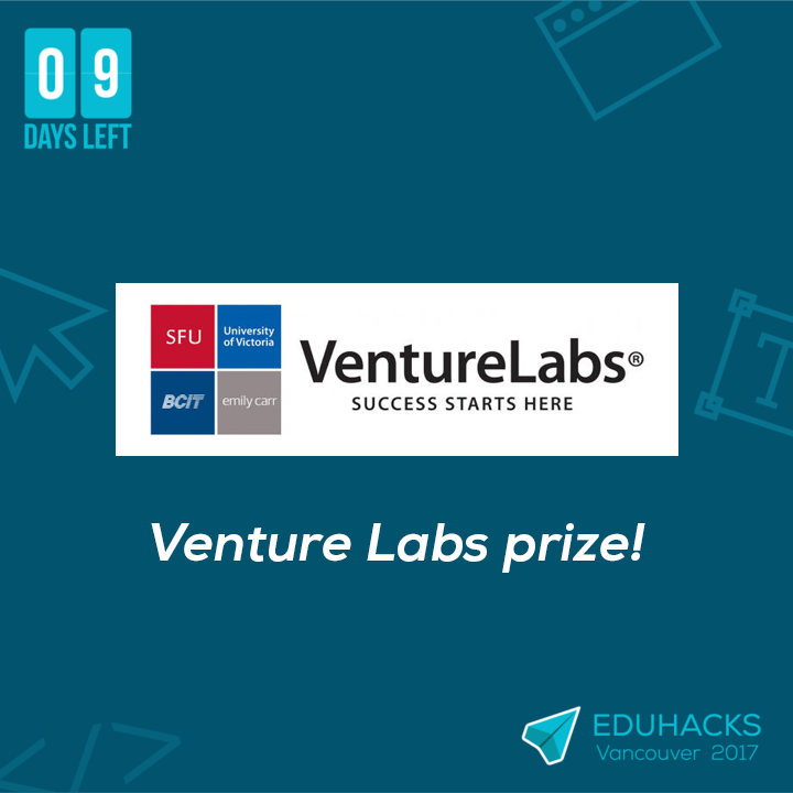9 DAYS LEFT! Venture Labs will be giving 30 days of hot-desk access for up to five team members! @VentureLabs_ca #startup #accelerator <br>http://pic.twitter.com/ldZMJqxvDK