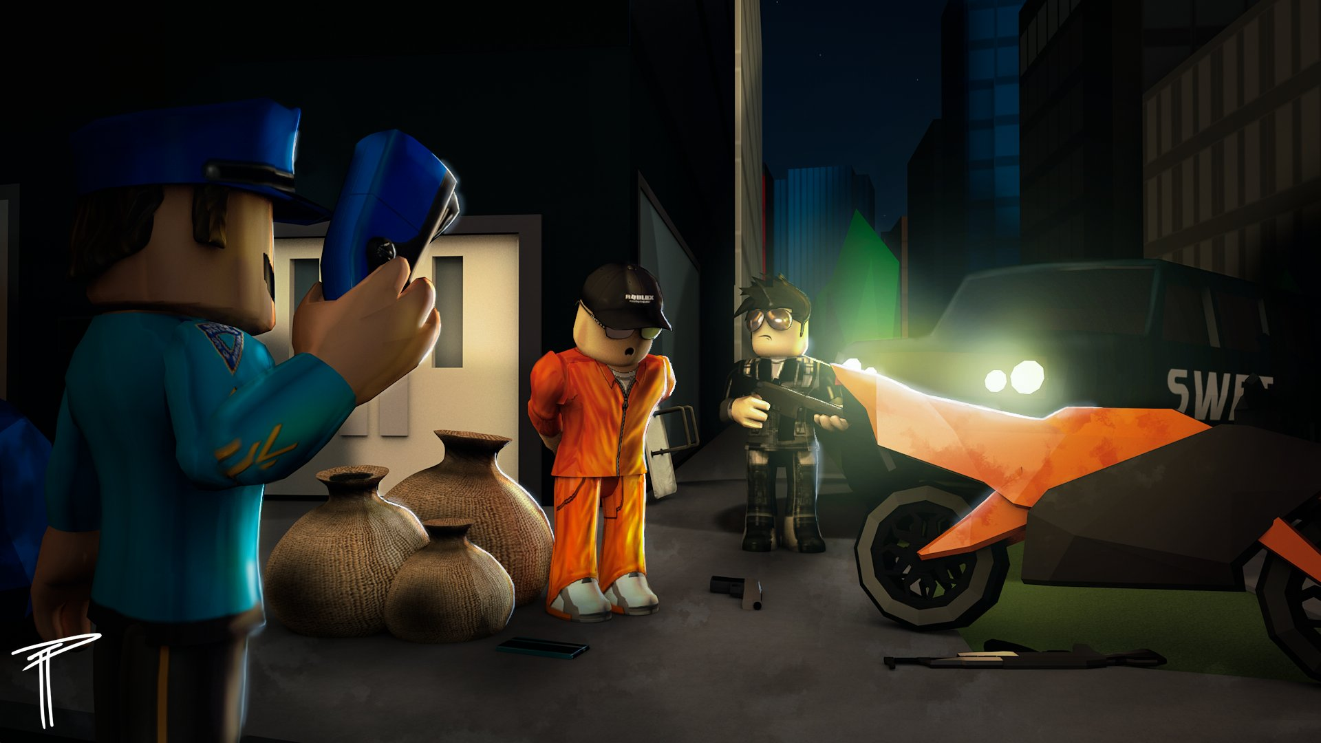 """IDHAU on Twitter: """"""""Busted"""" Artwork for Jailbreak #ROBLOX ..."""