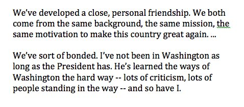 Luther Strange starts a moderator-free #ALSen debate bragging that he talked to Trump for 30 minutes last night. On their relationship: