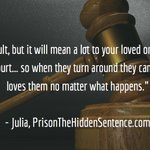 Finding the strength to support your loved one in the most difficult moments… #lovedonebehindbars #prison #incarceration