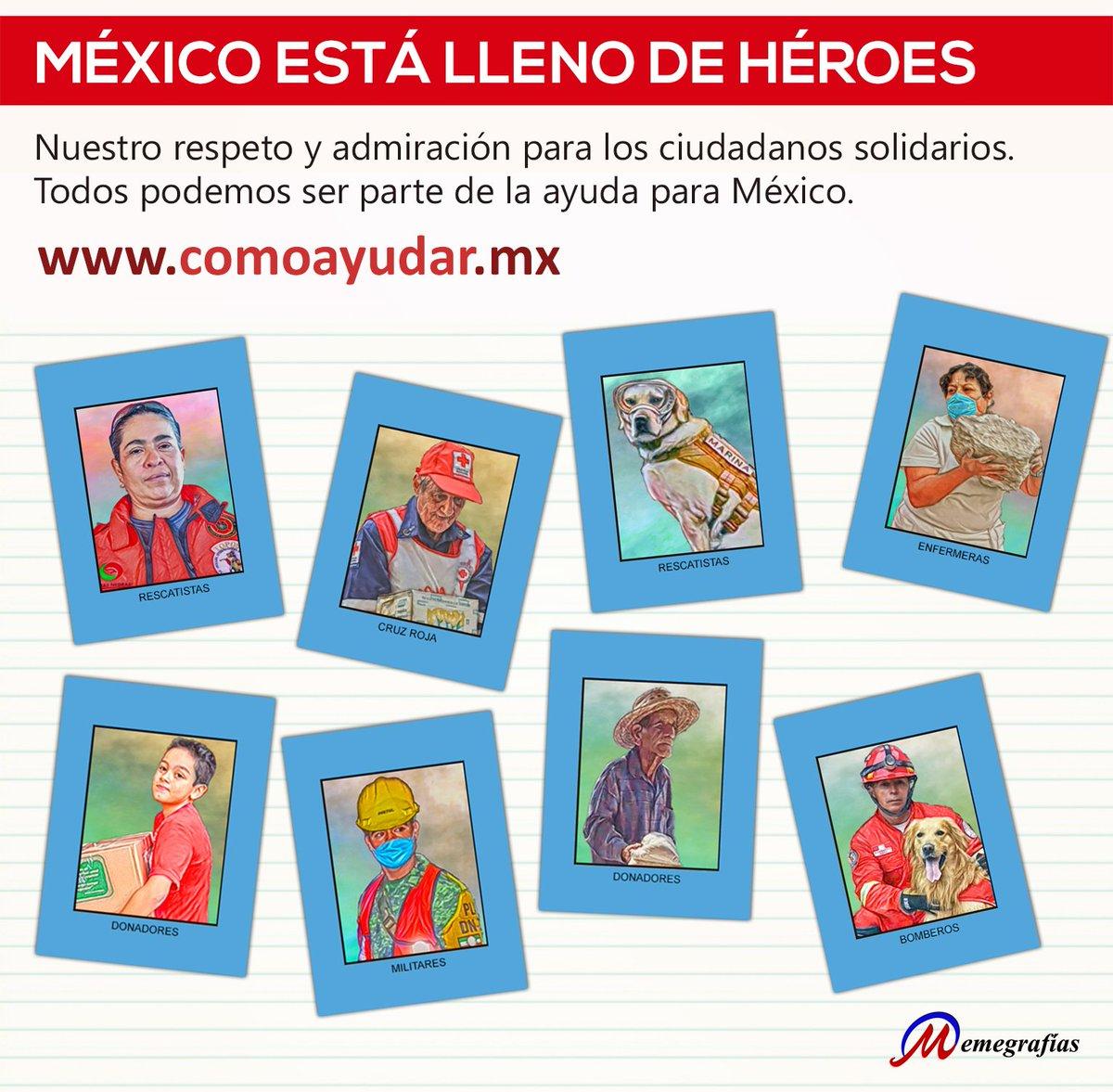 #FuerzaMexíco  Todos podemos ayudar en l...