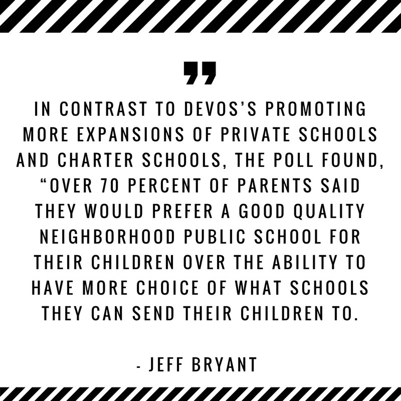 Betsy DeVos's Back To School Message At Odds With What Parents Want Via @jeffbcdm | http:// ow.ly/s3PF30fkJ7q  &nbsp;   #edchat <br>http://pic.twitter.com/0l6DXM3EET
