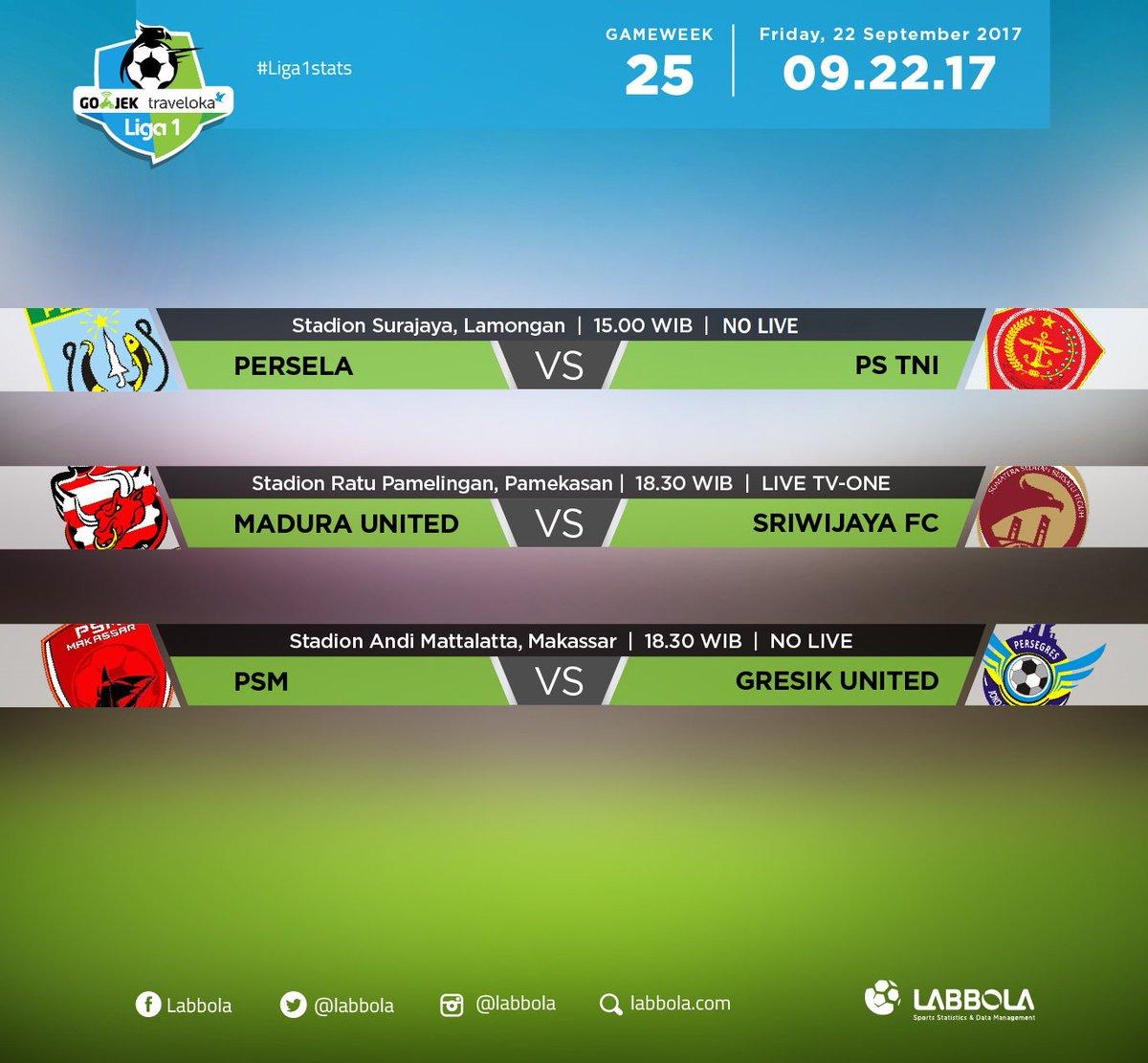 Jadwal pertandingan Liga 1
