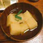 江戸時代のカステラの食べ方。吸物の具と酒の肴(大根おろしを付ける)を試してみました。当時の人が夢中に…