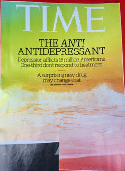 Wow @TIME cover in my med-office lobby. 'Party drug' makes headline 4 it's effectiveness. #mdma #depression #PTSD