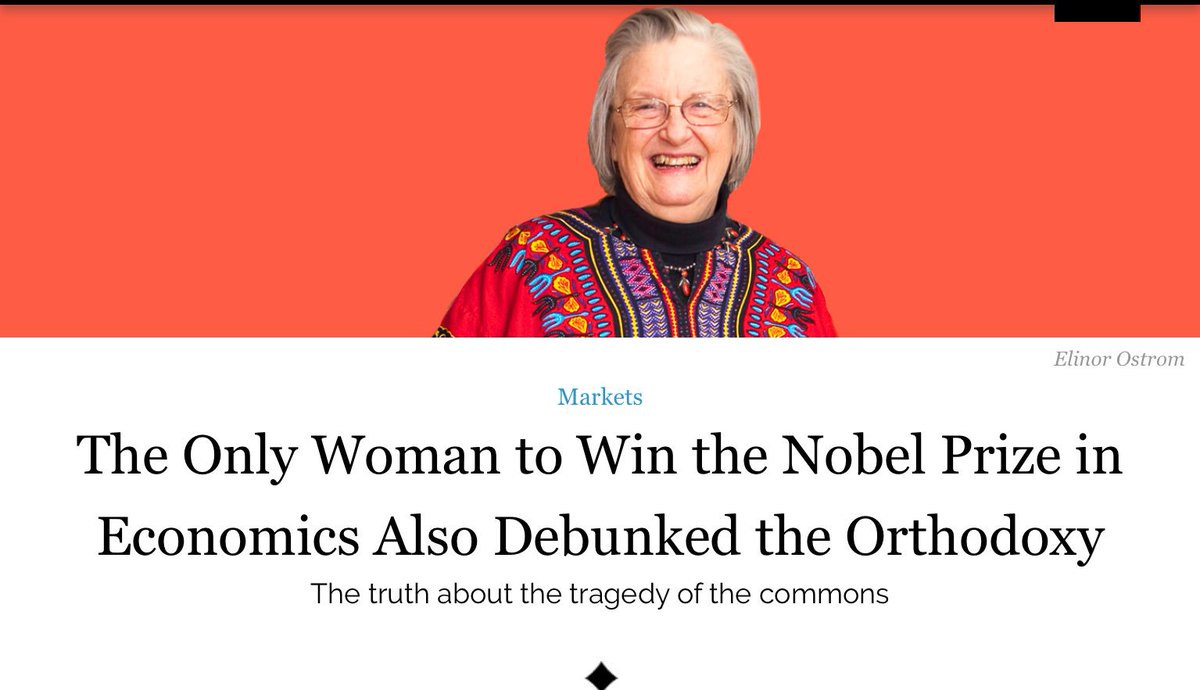 Interesting read. The woman who debunked neoliberal orthodoxy on the &#39;tragedy of the commons&#39;.   http:// evonomics.com/the-only-woman -to-win-the-nobel-prize-economics-debunked/ &nbsp; …  #economics <br>http://pic.twitter.com/mAdoDOjjIN