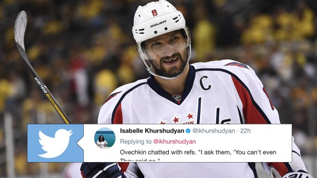 Ovechkin shares amusing conversation he had with ref about slashing during preseason game. MORE @ https://t.co/NkPBDQvlbm