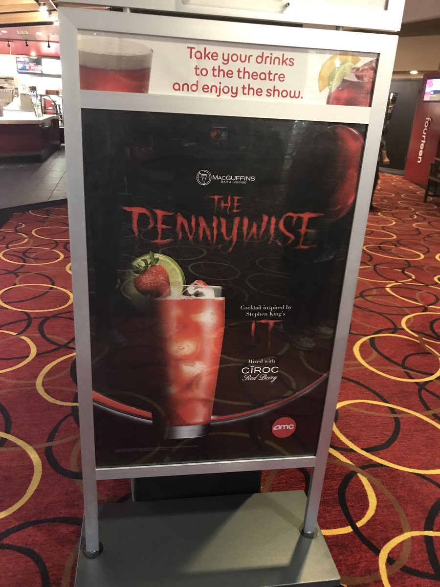 A #Pennywise DRINK AT #AMC! NOW THAT&#39;S A SCARY GOOD DRINK! NO CLOWNING! #ItMovie #Horror #Movie <br>http://pic.twitter.com/SXI03Gc9VJ
