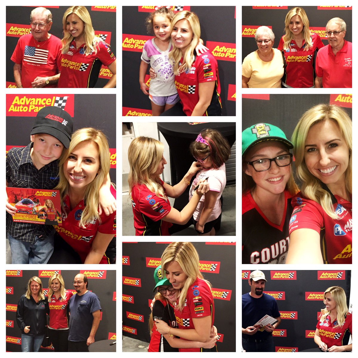 Such a fun night at @AdvanceAuto! Thanks for coming out! Loved meeting you all! What a great way to kickoff race 2 of the Countdown!
