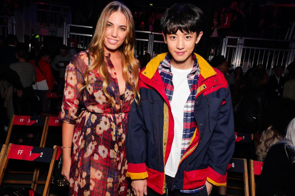 Headlining the front row 💥 @amberlebon and #CHANYEOL at #TOMMYNOW 🤘