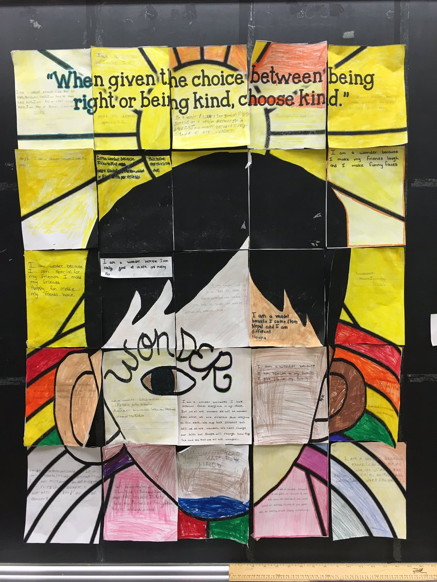 3 different ESL classes contributed a piece to this puzzle about what makes them a wonder #mskimESL @tdsb_SMPS #wonder @RJPalacio @tdsb<br>http://pic.twitter.com/tWkKapYvws