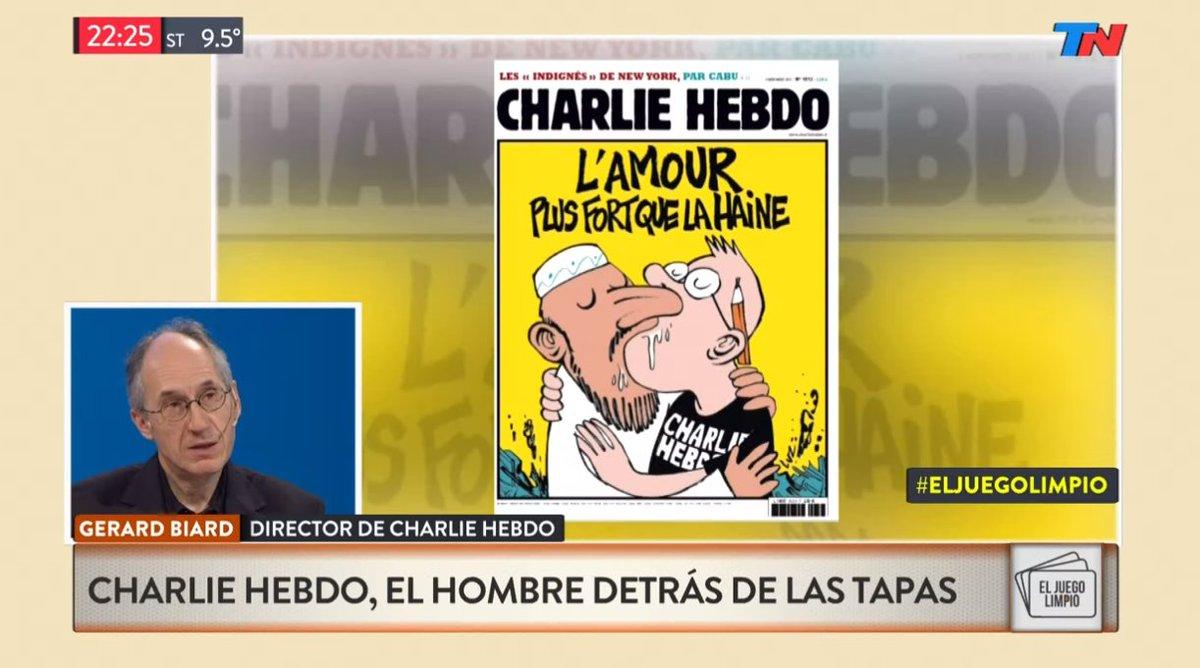 EN VIVO - En #ElJuegoLimpio habla Gerard Biard, director de Charlie Hebdo https://t.co/sok1WZ8hiS