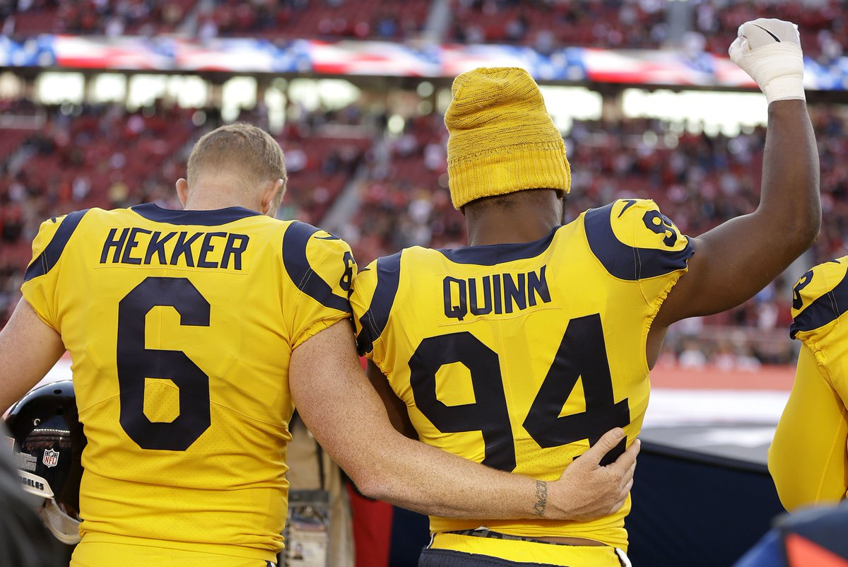 shoutout to Robert Quinn and John Hekker for protesting during the