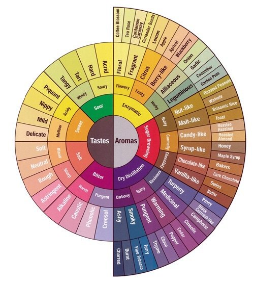 Great wine Taste and Aromas map in one diagram. #wine #winechat #winelover<br>http://pic.twitter.com/QpdLpRKS8Q
