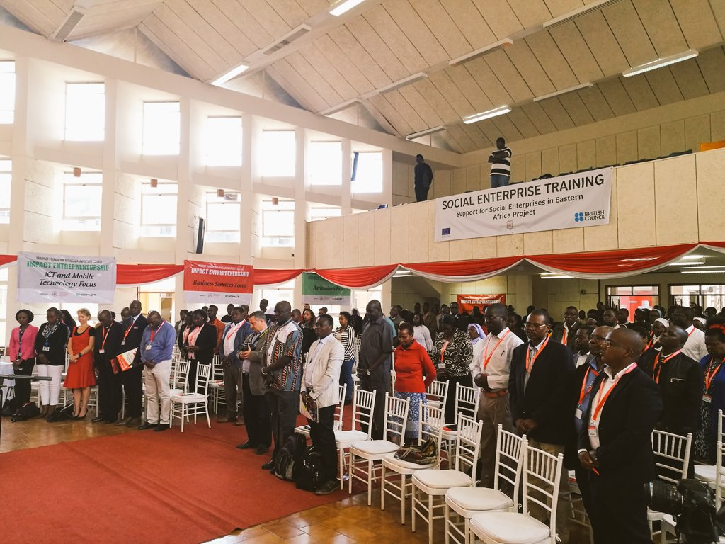 The 1st Annual Africa conference on social entrepreneurship is on at tangaza college.  #SocEnt  @SocEntGlobal  @UKinKenya<br>http://pic.twitter.com/dPu3GezQEM
