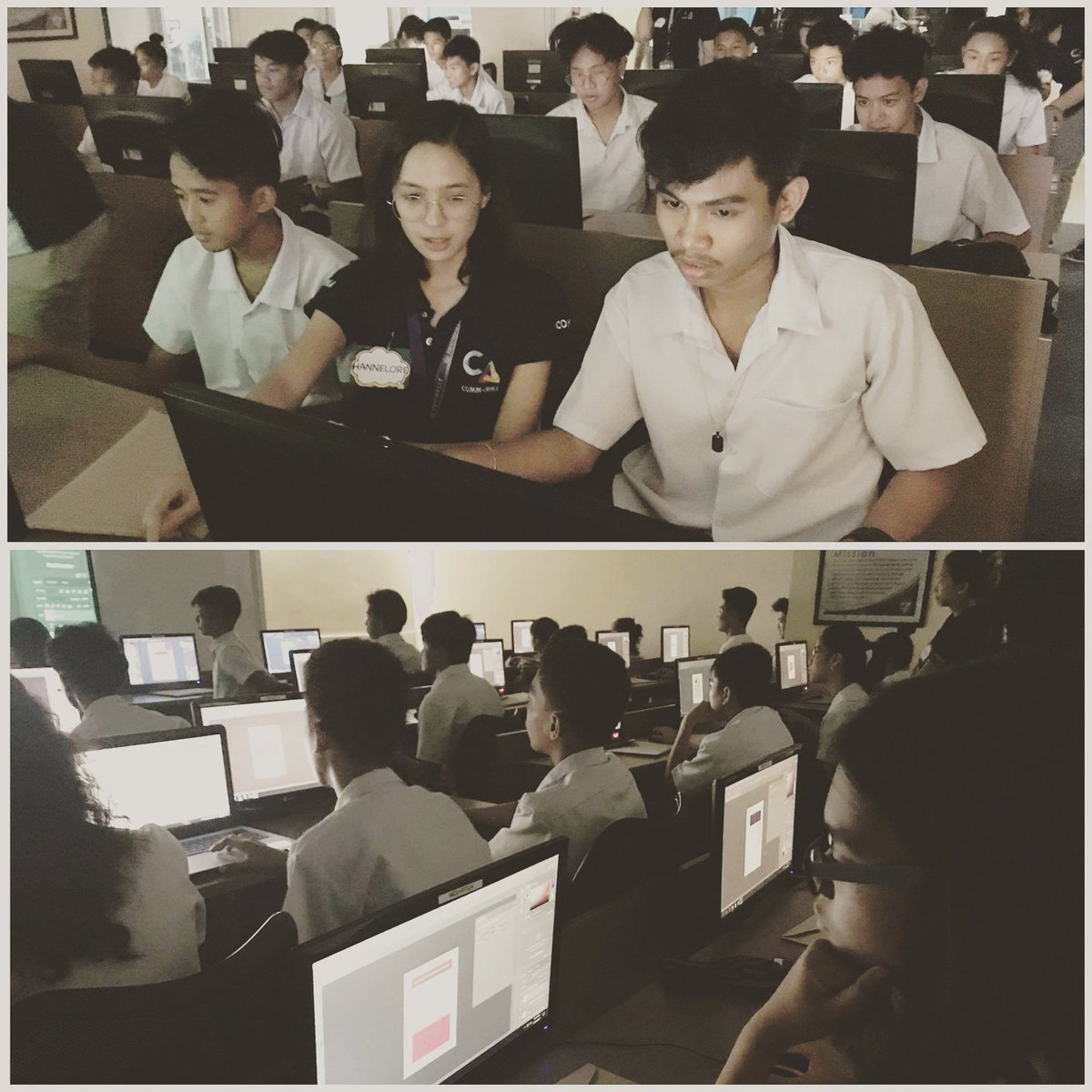 #HappeningNow Representatives from COMMA teaching Adobe Photoshop and basic design to CAA students #outreach #thecollegiatemover #cmonline<br>http://pic.twitter.com/6N54r7XbwP