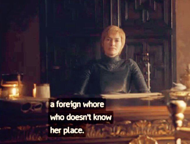 Only Cersei Lannister can offend two characters in one line  #lenaheadey #cersei #GameOfThrones #GoTS7 #QueenOf the7kingdoms<br>http://pic.twitter.com/cfaQAAE7ai