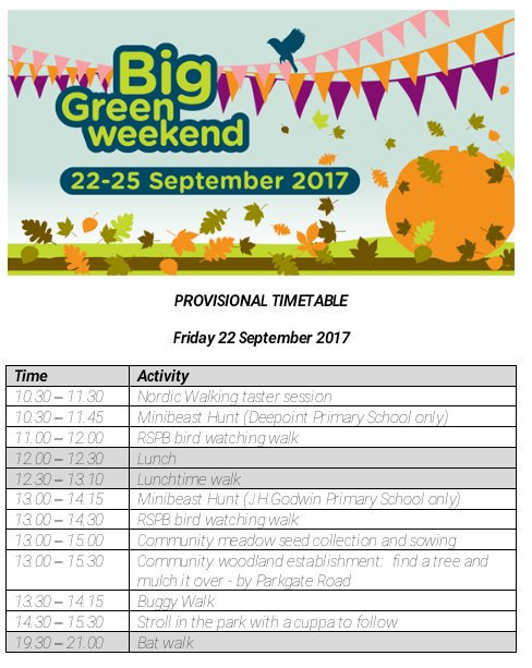 Today&#39;s the day for all sorts of walks,talks and activities for young and old @CountessPark #chester #BigGreenWeekend  @ShitChester. Join us <br>http://pic.twitter.com/USN8zRa9uR