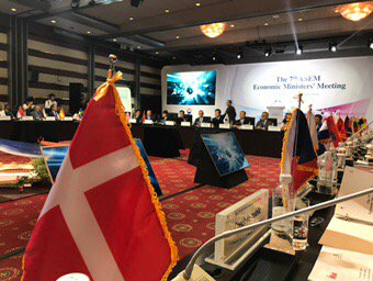 #ASEM on free trade I say: markets like an umbrella. They only work when open. Need strong #WTO MC11. #mfadk<br>http://pic.twitter.com/xZ4lKsdez2