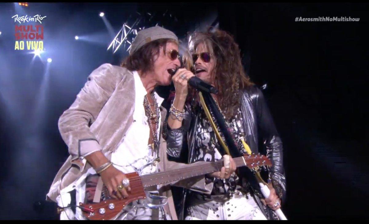 Último e grande show da noite: #Aerosmith! Vem, gente! #SKYÉMAIS #RockInRio