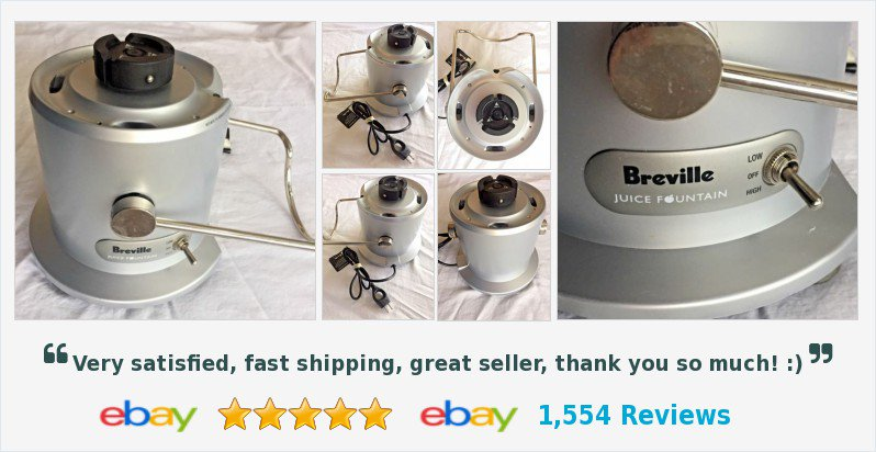 breville juicer je95xl juice fountain plus 2 speed motor base tested works juicing health