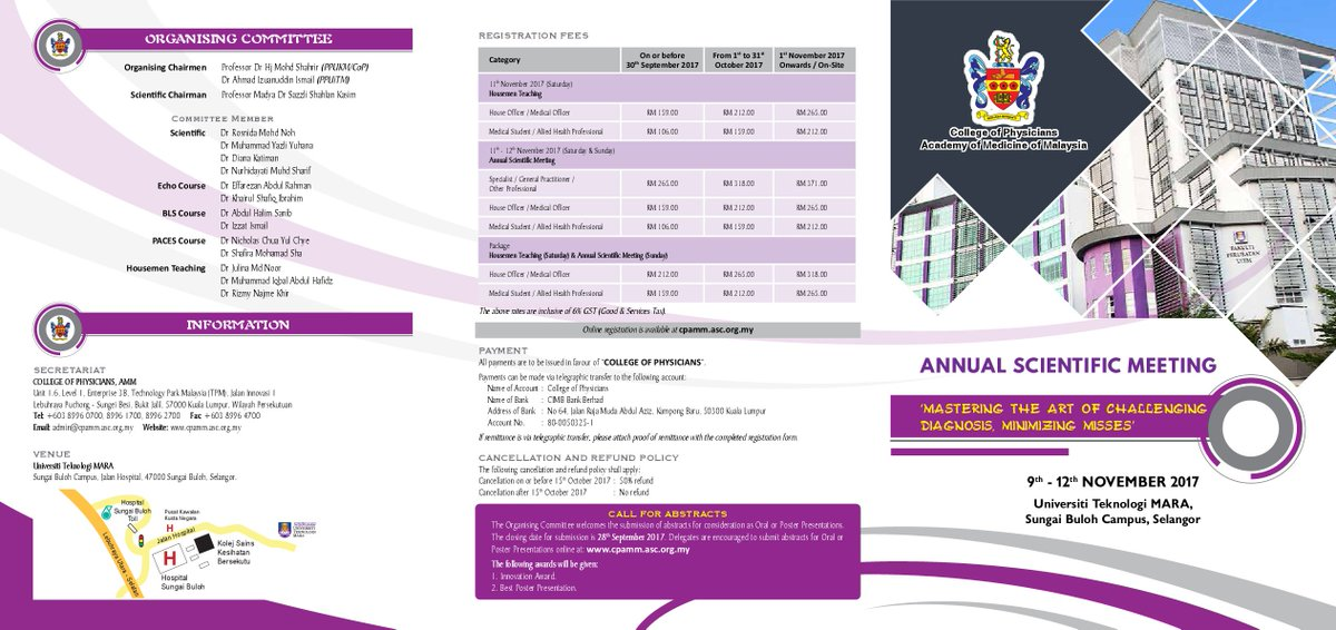 UiTM is proud to be hosting the 2017 College of Physician&#39;s Annual Scientific Meeting !!! PLACES ARE LIMITED... #FOAMed #MedEd <br>http://pic.twitter.com/oU6dWi5aj4