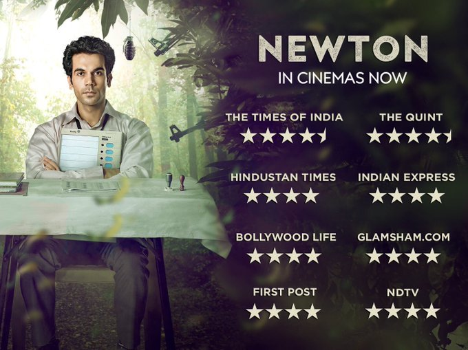 #Newton, in cinemas now. https://t.co/7XhrhkND4Y